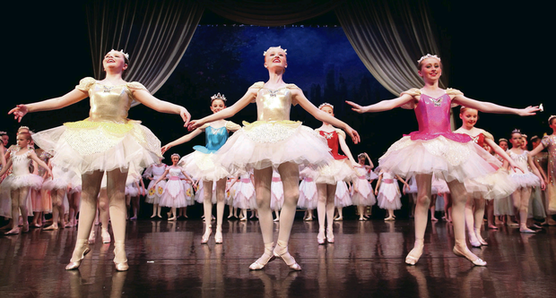 The ballet rendition of The Sleeping Beauty at the Grand Opera House in Belfast features young dancers from Northern Ireland