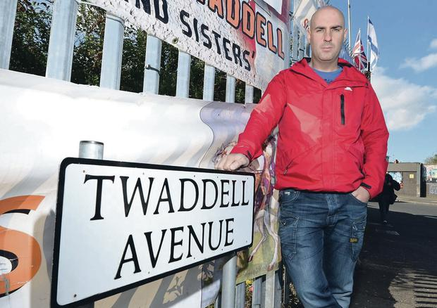 Gerald Solinas at the camp at Twaddell Avenue