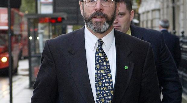 Gerry Adams said there could be no military victory for the IRAo