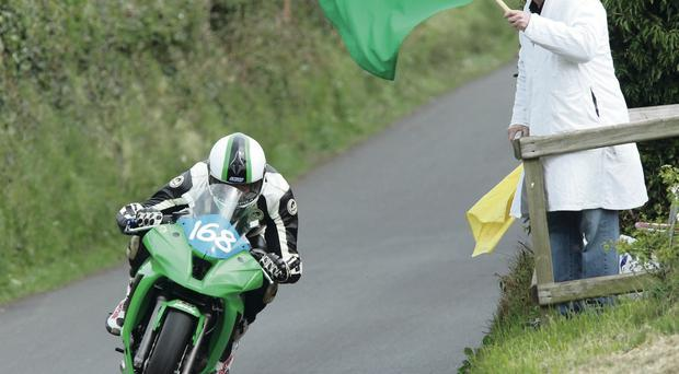 Noel Murphy in action at the Tandragee 100