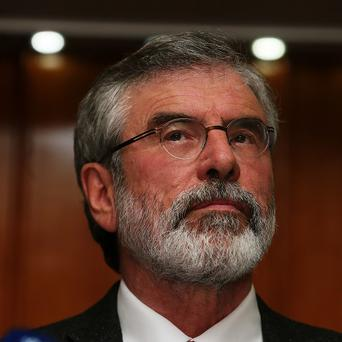 Sinn Fein president Gerry Adams said the controversy played into the hands of those who oppose the peace process