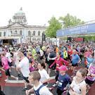 Thousands take part in yesterday's Belfast Marathon