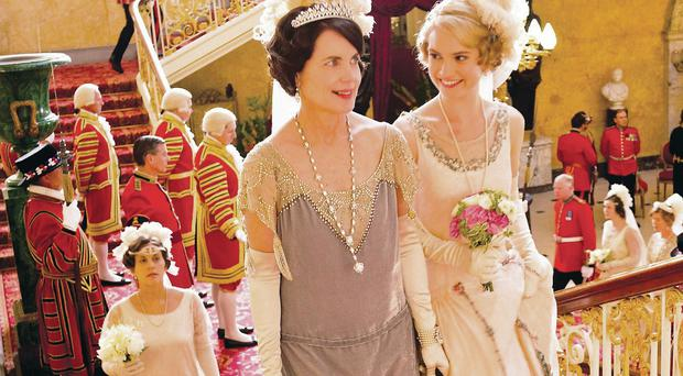 The Downton costumes and gowns which have shot Caroline McCall to fame