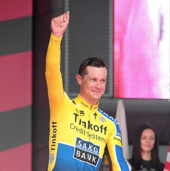 Tinkoff Saxo's Nicolas Roche during the team presentations