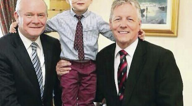Visit: Wee Oscar with Martin McGuiness and Peter Robinson