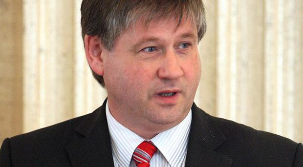 Basil McCrea visited Andersonstown on the campaign trail.