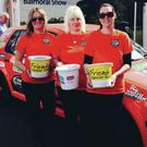 Paula McErlean, Louise Buckley and Anna Mottram who will be driving across Europe in an old banger to raise money in memory of Paula's son Callan