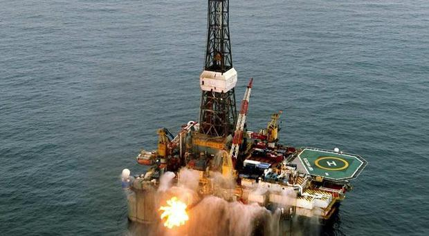 An oil rig operating in Barryroe, 50km from Co Cork.