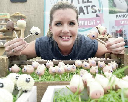 Ruth Blair from Little Treats with her animal cake pops