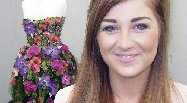 Armagh student Emma Sinnamon won a bronze medal at Chelsea for her creation