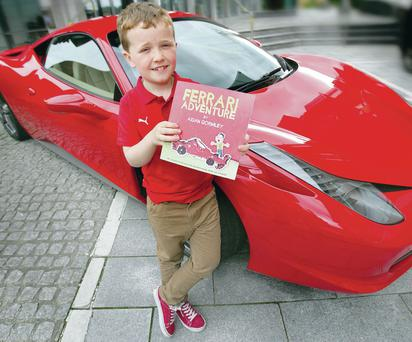 Aidan Gormley (8) from Omagh celebrates the publication of his first book, Ferrari Adventure