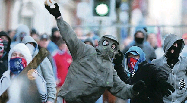 Violence followed illegal loyalist flag protests