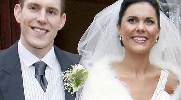 Michaela McAreavey and husband John on their wedding day