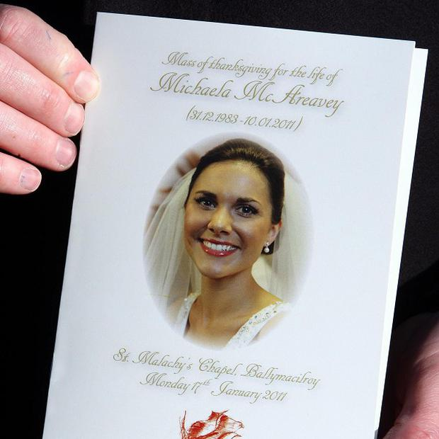 Michaela McAreavey was murdered on her honeymoon.