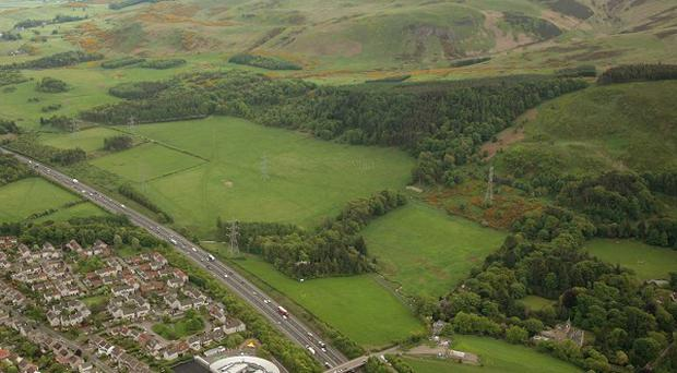 Scotland's First World War Centenary Wood will be situated in the Pentland Hills (Guthrie Aerial Photography)