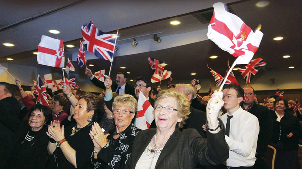 The DUP faithful flying the flag at the party's conference in 2011