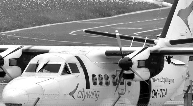 The aircraft that was forced to make an emergency landing at George Best Belfast City Airport shortly after take-off