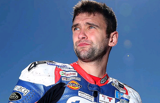 William Dunlop broke his leg in the Isle of Man yesterday