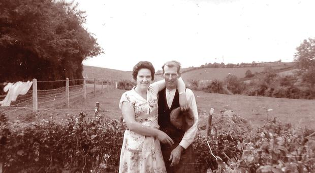 Johnny Balfour with his daughter Olive on Cleenish