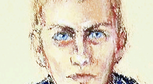 A police sketch of the man they believe carried out the brutal 1994 assault