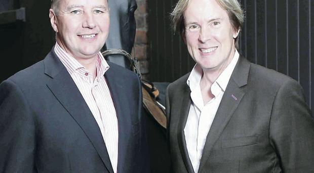 Brit Megaghy, Barclay Communications and, right, Mike Todd of Down Royal