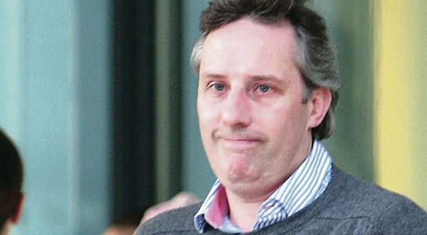 Ian Paisley Jnr leaves hospital after visiting his father