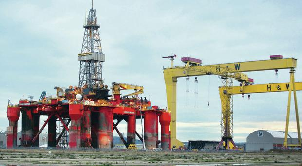 The Blackford Dolphin oil rig has been a familiar sight in Belfast's docklands over the last six months