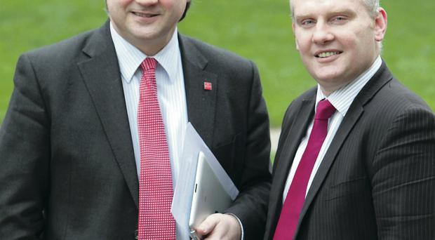 Basil McCrea (left) and John McCallister