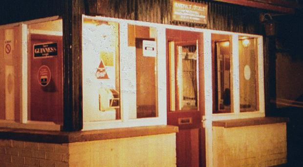 The Heights Bar at Loughinisland, the morning after six people were shot dead