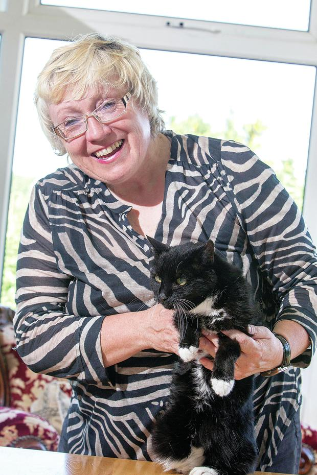 Tutti-Frutti with her owner Marie McAleavey in Newry