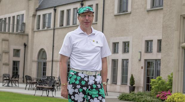 Roger in his shamrock trousers