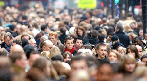 The UK's population has risen by around 400,000 to more than 64 million