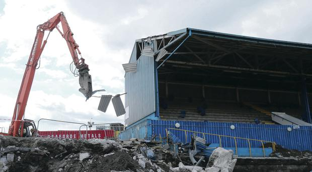 Demolition work being carried out on Windsor Park's South