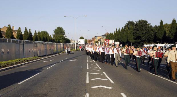 The east Belfast Mini Twelfth passes by the nationalist Short Strand area