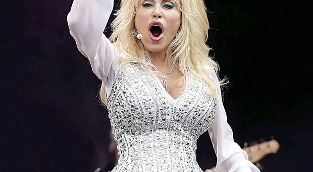 Queen of Country Dolly Parton at Glastonbury Festival