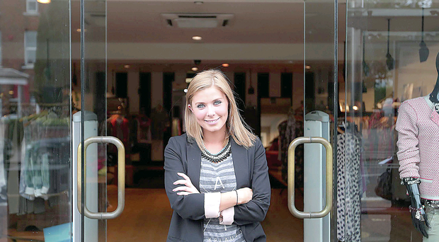 Katharine Montgomery of Harrison's Fashion Boutique on the Lisburn Road