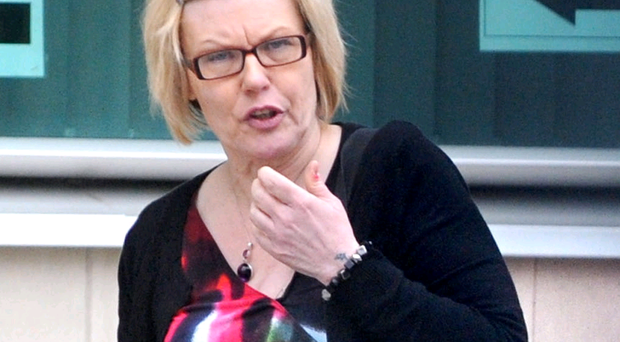 Former bank worker Linda Allison at Belfast Crown Court