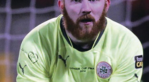 Cliftonville goalkeeper Conor Devlin