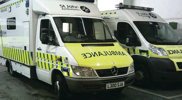 St John Ambulance vehicles on standby