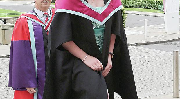Exemplary student Clare Scullion, from Ballygawley in Co Tyrone, is the winner of the First Trust Bank Queen's University Student of the Year Award