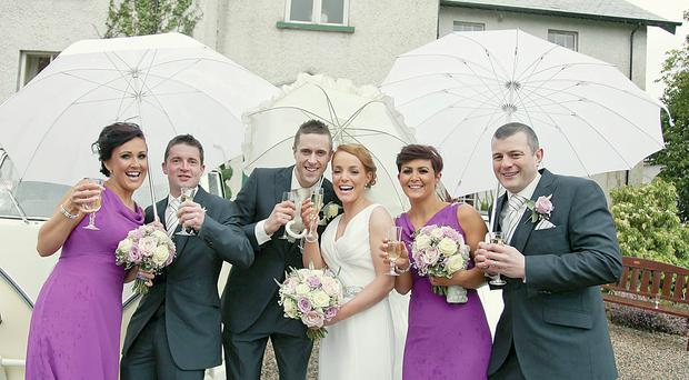 From left: Jenna Armstrong, Joseph McCourt, Jonathan and Gillian Boyd, Kerry Graham and Sean Smith