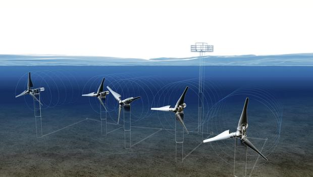 Artist's impression of how the turbines might look