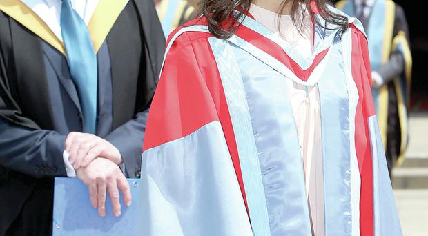 Singer Katie Melua during graduation at Queen's University last Saturday