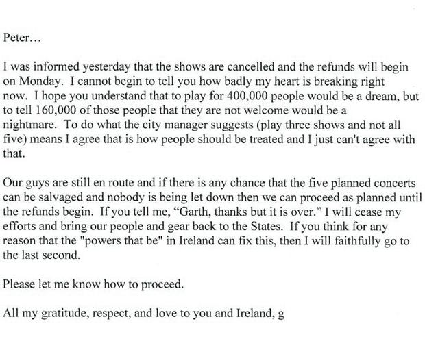 The letter Garth Brooks wrote to Peter Aiken