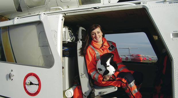 Dr Sinead Campbell-Gray when she was a flying trauma doctor for Great North Air Ambulance Service in England
