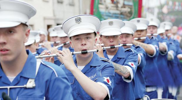 North Down First Flute band in action