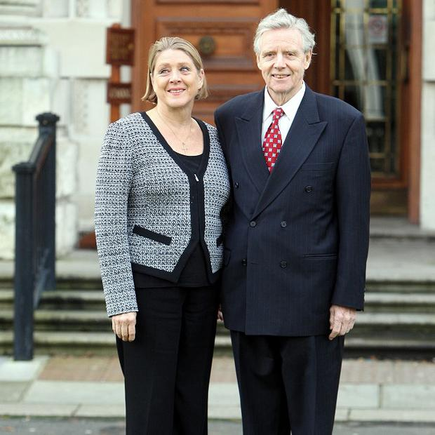 Dr Alistair Hanna with his wife Nancy