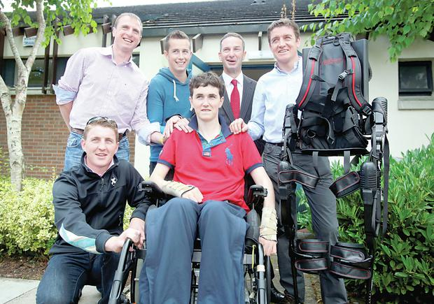 Jonjo Bright with fellow jockeys at the RACE School in Kildare