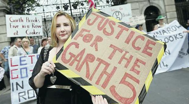 Protesters outside the Dail at the weekend
