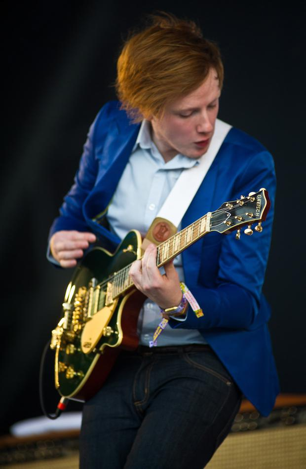 Alex Trimble of Two Door Cinema Club who fell ill before the band's Latitude gig